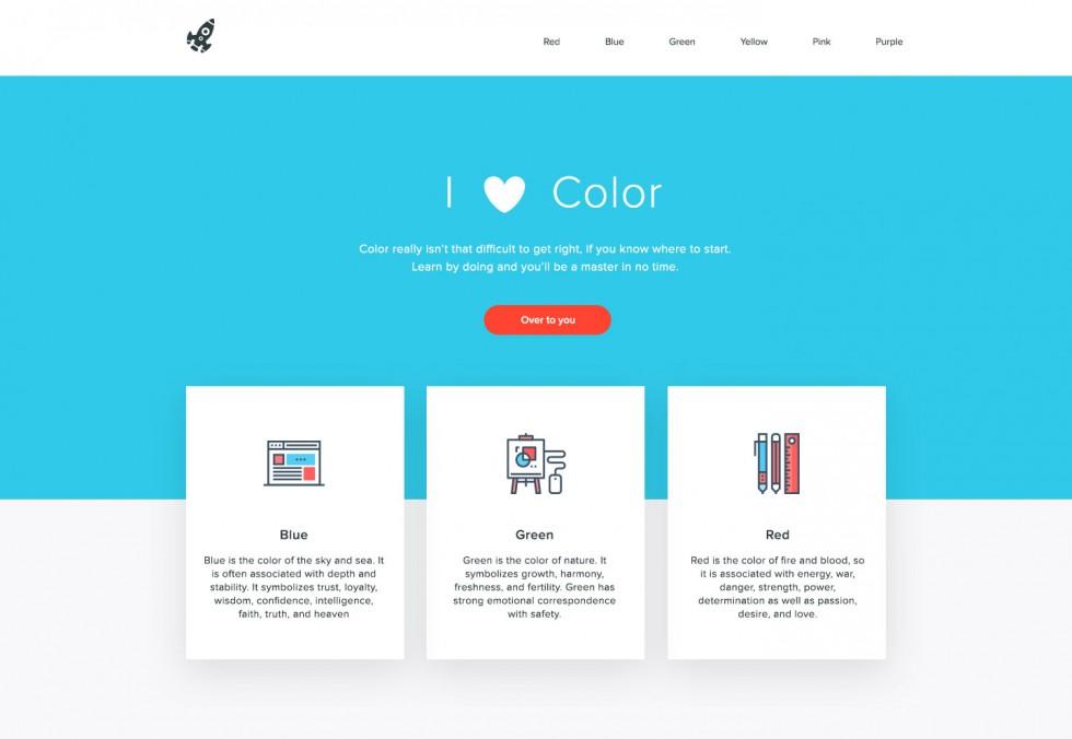 استفاده از رنگ ها در طراحی وب سایت