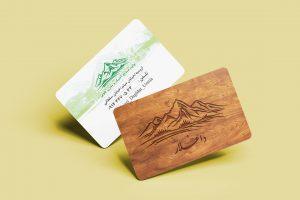 نمونه کار طراحی کارت ویزیت برای نجاری